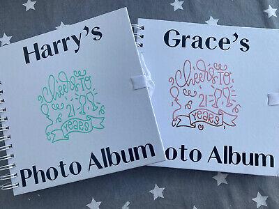 PERSONALISED BIRTHDAY 18th 21st 30th 40th 50th 60th Photo Album/guest Book 8x8 • 10£