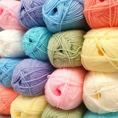 Baby Soft Pastel DK Double Knitting Yarn Acrylic Wool 100g Ball Knit Crochet • 3.49£