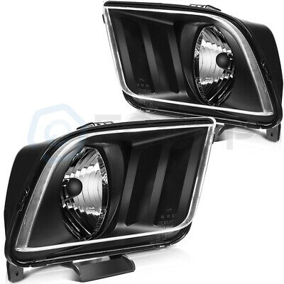 $79.15 • Buy Fits Ford Mustang 2005-2009 Headlight Assembly Kit Headlamp Left+Right Pair Set