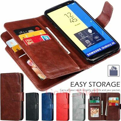 AU12.43 • Buy For Samsung J3 J5 J7 J8 J4 J6 Plus A21s Wallet Flip Card Slot Leather Case Cover