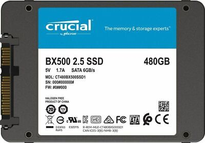 AU89 • Buy Crucial 480GB 2.5  SATA SSD Drive Laptop Notebook PC HDD Hard Disk Drive BX500