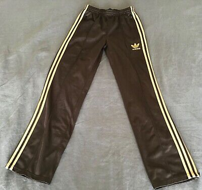 AU50 • Buy Adidas Retro Womens Size Large Track Pants Brown And Gold New Condition