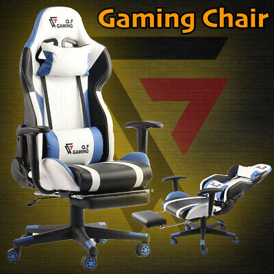 AU199.95 • Buy QF Gaming Chair Office Seat Premium Racing Computer Footrest PU Leather Executiv