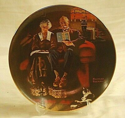 $ CDN24.98 • Buy Norman Rockwell Evening's Ease Collector Plate Edwin M Knowles 7586N