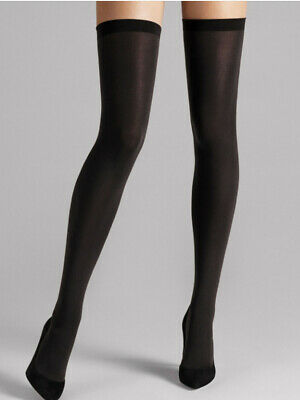 Wolford Fatal 80 Seamless Stay Up, Luxury Opaque Thigh High Hold Ups • 29.13£