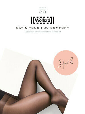 Wolford Satin Touch 20 Comfort Tights 3 For 2, Multipack Shiny Luxury Pantyhose • 30.79£