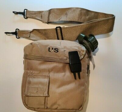 $ CDN26.36 • Buy 2 Qt Collapsilbe Water Canteen & Dessert Tan Pouch W/sling Us Army Military New