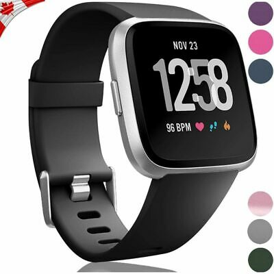 $ CDN4.99 • Buy Band Strap For Fitbit Versa 1 2 Lite Soft Silicone Sports Bands Fitness Bracelet