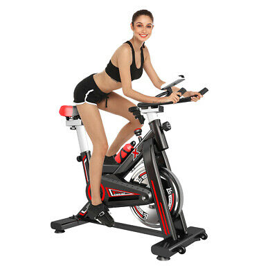 PRO Indoor Training Exercise Bike Fitness Home Gym - 10KG Flywheel Bicycle • 145.99£