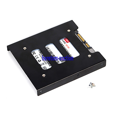 AU7.99 • Buy 2.5 Inch SSD HDD To 3.5 Inch Metal Mounting Adapter Bracket Dock For PC Black AU
