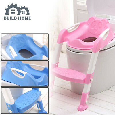 Foldable Baby Potty Infant Kids Toilet Chair Portable Training Seat With Ladder • 12.89£