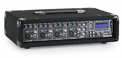 4-Channels Audio Power Mixer Bluetooth USB SD Mp3 2-Band Mixing Equalizer DJ PA • 105.99£