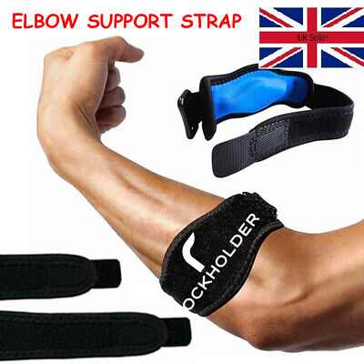 Tennis Elbow Strap Support Gym Brace Golfers Epicondylitis Band Clasp Arthritis • 2.99£