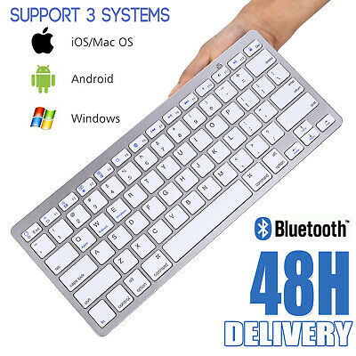 Universal Wireless Slim Bluetooth Keyboard For Pc Ipad Imac Android Phone Tablet • 9.97£
