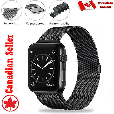 $ CDN9.90 • Buy Replacement Milanese Loop Straps For Apple Watch 40 42 44 Series 1 2 3 4 5 6 SE