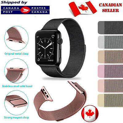 $ CDN9.75 • Buy Magnetic Stainless Milanese Apple Watch Band Loop Strap For Series 1 2 3 4 5 6 S