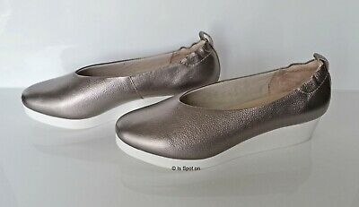 M&S Pewter Leather Low Wedge Shoes, UK 5.5, EUR 39, RRP£45, BNWT • 19.70£