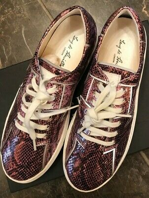 Stylish Terry De Havilland Designer Trainers Size 38 In Snakeskin Pink  - BNWB • 90£
