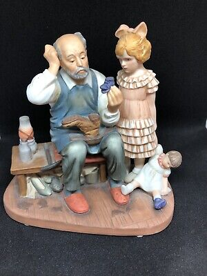 """$ CDN46.67 • Buy Norman Rockwell """"The Cobbler"""" 1987 - Numbered- Shoemaker With Little Girl - Cute"""
