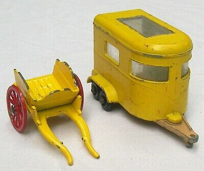 $ CDN2.62 • Buy 1960s Horse Trailer & Crop By Lesney 2 Ea. 1/64 Diecast Toys From England