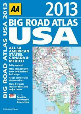 AA 2013 Big Road Atlas USA: All 50 American States, Canada & Mexico By American • 6.98£