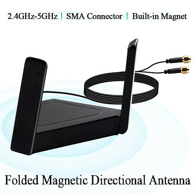 Antenna Dual Band 2.4/5GHz External Wireless Antenna PC Extension Cable • 8.70£