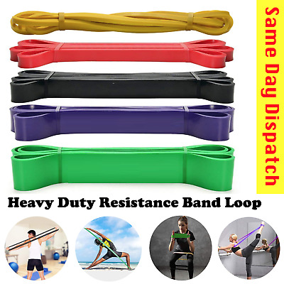 AU29 • Buy 5pcs Set Heavy Duty Resistance Yoga Bands Loop Home Workout Gym Fitness Exercise