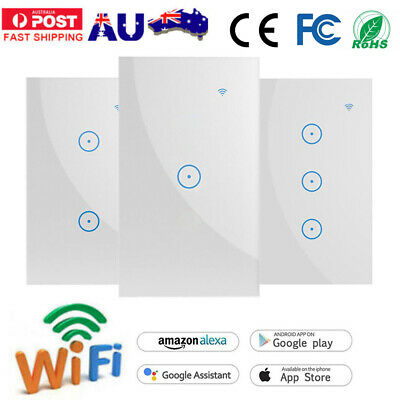 AU25.64 • Buy Smart WIFI Panel Switch Wall Light Touch App Timing Socket For Alexa Google Home