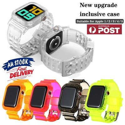 AU15.99 • Buy Clear Sports Band TPU Strap Case For Apple Watch 40/44mm IWatch Series 5/4/3/2/1
