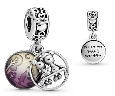 Genuine Pandora Disney Mickey Minnie Mouse Happily Ever After Dangle 798866C01 • 14.98£