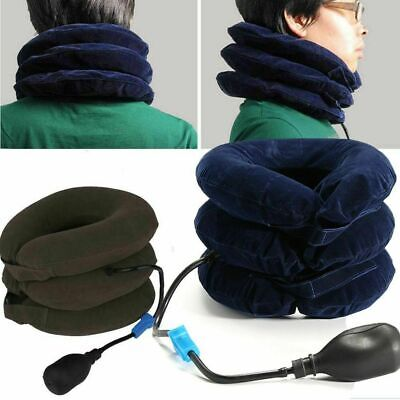 AU32.90 • Buy Air Inflatable Pillow Cervical Neck Head Pain Traction Support Brace Device 2020