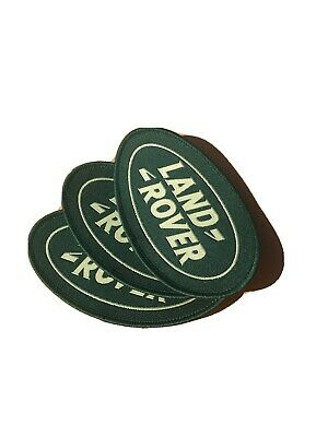 Land Rover Logo - Oval Cloth Embroidered Badge - Brand New • 3£