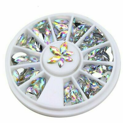 Pointed Rhinestones Marquise Diamante Gems Crystal 3D Nail Art Decoration UK  • 2.97£
