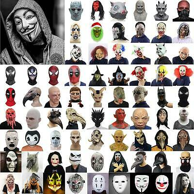 £13.09 • Buy Halloween Cosplay Mask Face Cover Horror Adult Party Fancy Dress Costumes Props