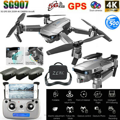 AU174.22 • Buy SG907 GPS Drone With 4K HD Dual Camera WIFI FPV RC Quadcopter Foldable Drone