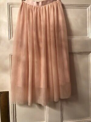 Ladies H&M Netted Skirt Over Fabric. Pale Pink. Size 20. Perfect • 0.99£