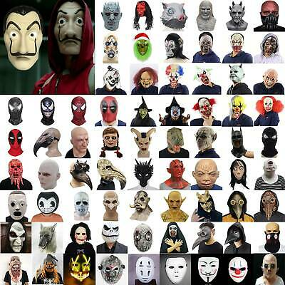 £16.09 • Buy Halloween Cosplay Mask Face Cover Scary Horror Party Fancy Dress Costumes Props