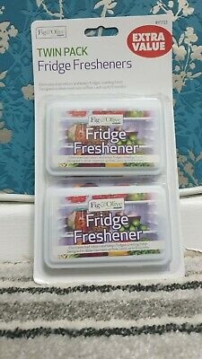 Twin Pack Fridge Fresh SMELL Freshener Smell EXTRA VALUE TWIN PACK FAST DISPATCH • 3.39£