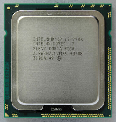 $ CDN195.54 • Buy Intel Core I7-990X Extreme Edition LGA1366 3.46GHz 6Core 12M SLBVZ CPU
