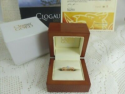Clogau Welsh Gold, 18ct Rose Gold Diamond Solitaire Engagement Ring, Size L • 695£