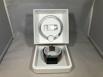 $ CDN240 • Buy Apple Watch Series 2 (GPS) Silver Stainless Steel 42mm Very Good W/ Leather Band