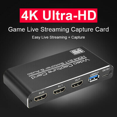 HDMI To USB3.0 Video Capture Card 4K 60Hz Game Streaming Live Recorder Box • 57.79£
