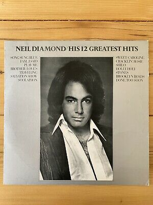 Neil Diamond - His 12 Greatest Hits 12  Vinyl LP Record (VG/Ex Condition) • 6.99£