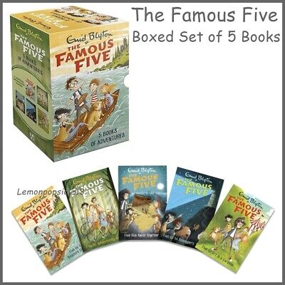 Enid Blyton The Famous Five 5 Books Of Adventures Box Set Brand New Sealed • 14.95£