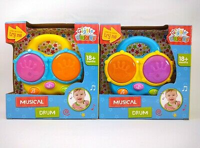 £11.35 • Buy Giggle And Grow Musical Drum Sounds & Lights Baby Toy 18+ Months