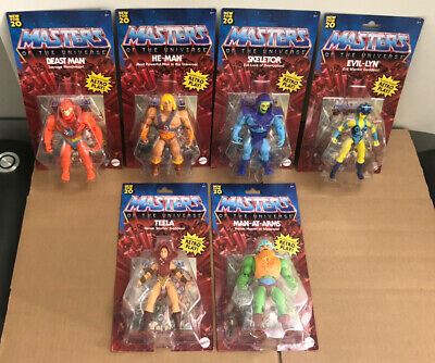 $149.95 • Buy Lot Of 6 NEW 2020 Masters Of The Universe Origins HE-MAN Retro Complete Set