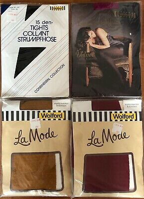 4 Pairs Wolford Tights Pantyhose 3 Medium 1 Large • 9.99£