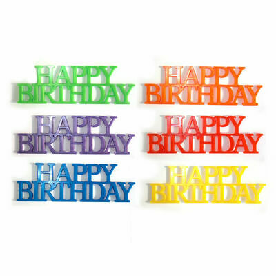 Happy Birthday Plastic Script Reusable Party Sign Cake Decorating Toppers  • 1.75£