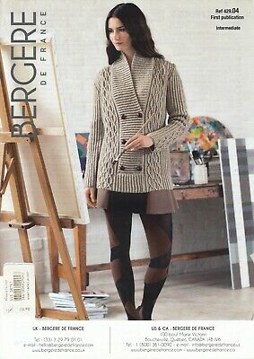 Bergere De France Sport Ladies Shawl Neck Cable Cardigan Knitting Pattern  • 2.75£