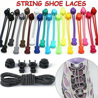 £2.49 • Buy No Tie Elastic String Lace Easy Locking Shoe Laces Shoelaces Runners Adult Kids